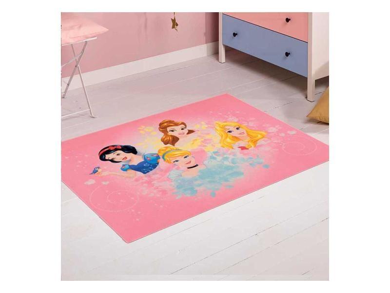 Tapis chambre princess 04 princesses rose 95 x 125 cm tapis ...