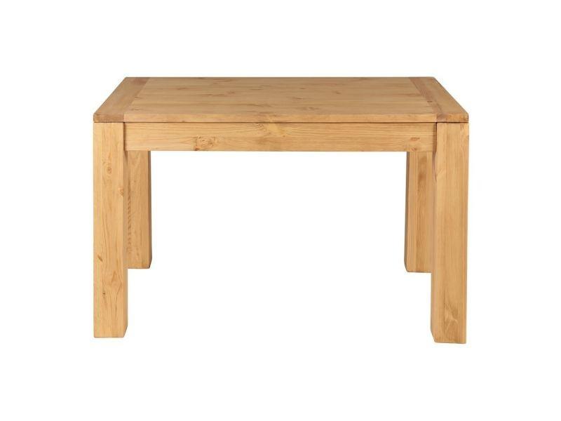Table rectangulaire en pin massif 120 x 80 cm - /miel - /miel