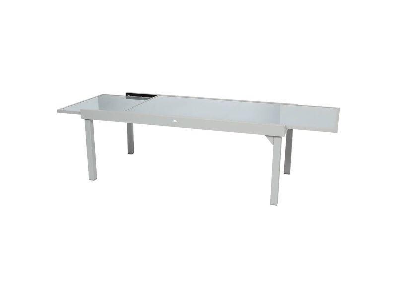 Table de jardin extensible piazza - 12 personnes - gris ...