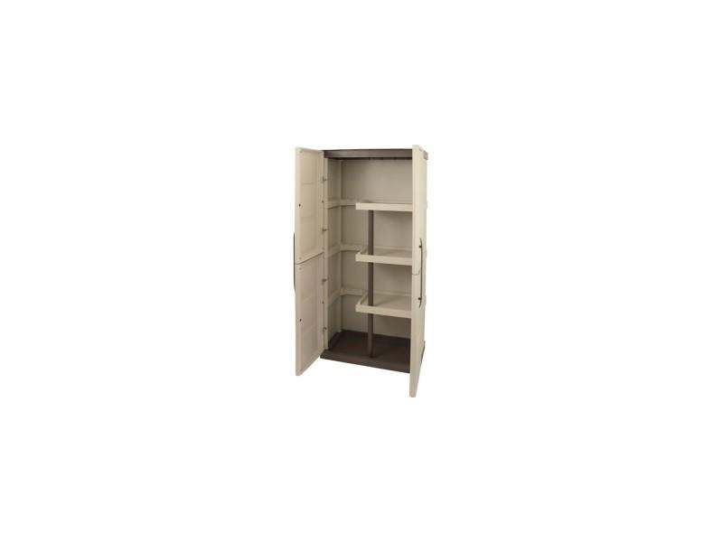 Sogenex armoire de rangement haute en résine 3 tablettes avec porte balai SOGARM70P - Vente de ...