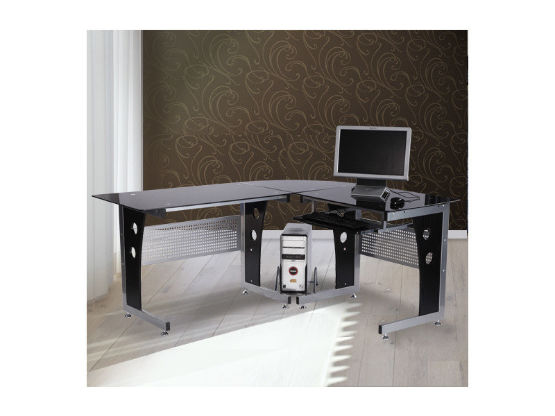 Bureau D Informatique Angle Pour Ordinateur Meuble Table De