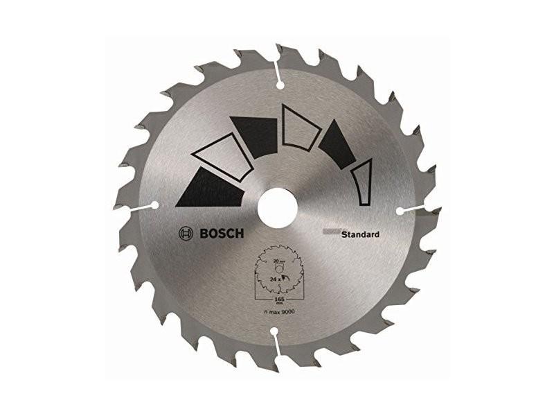 Bosch professional bosch 2609256b55 standard lame de scie circulaire 24 dents carbure diamètre 165 mm alésage/alésage avec bague de réduction 20/16 largeur de coupe 1,6 mm 2609256B55