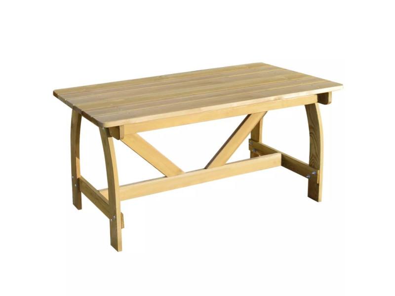 Vidaxl table de jardin bois de pin imprégné fsc 41962 - Vente de ...