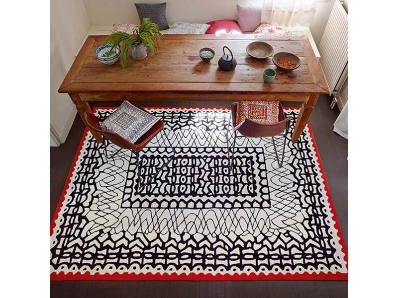 Tapis Chambre Oriental Noir 70 X 140 Cm Tapis De Salon Moderne Design Par  Esprit