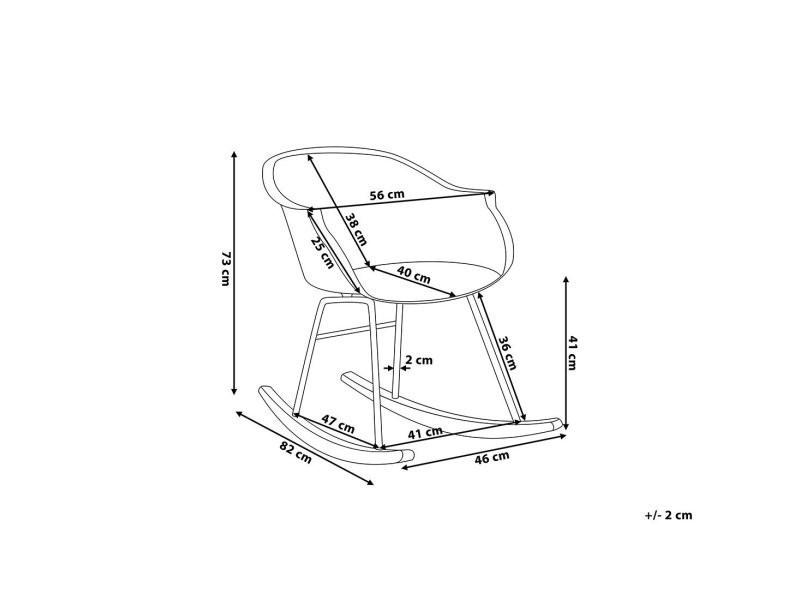 Chaise à bascule blanche harmony 57946 - Vente de BELIANI ...
