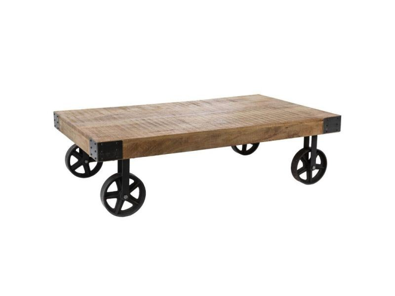 Paris prix - table basse à roulettes en bois \
