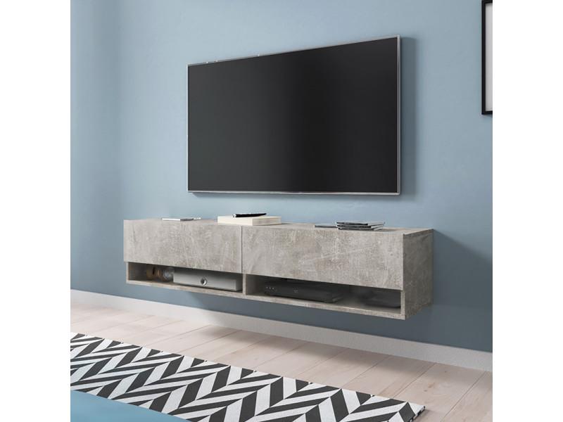 Meuble tv - WANDER - 140 cm - béton