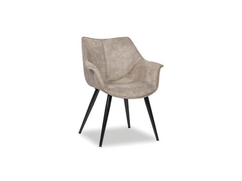 Fauteuil design gris madelon (lot de 2) Vente de