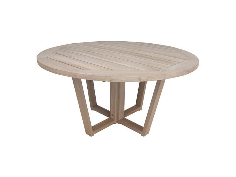 Table ronde en teck massif recyclé 150 cm newhaven - Vente ...