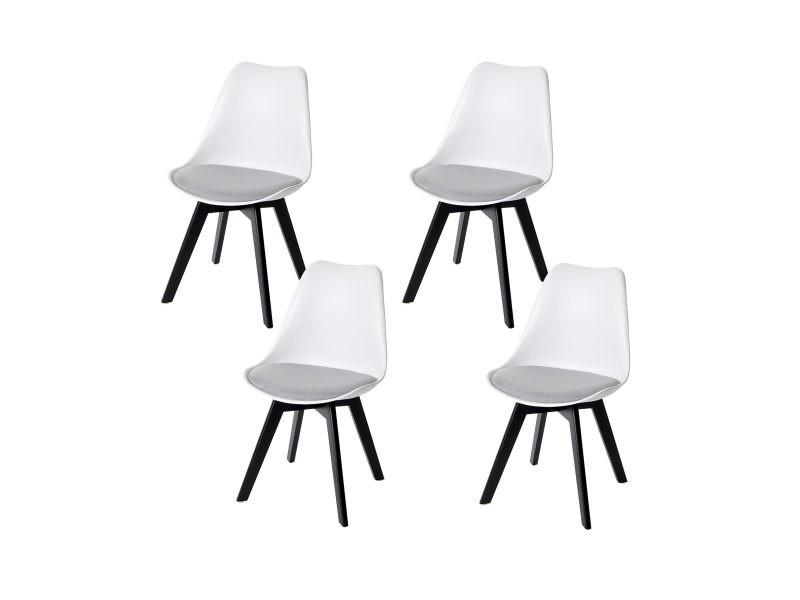 4x chaise de salle à manger hwc-e53, chaise de cuisine ...