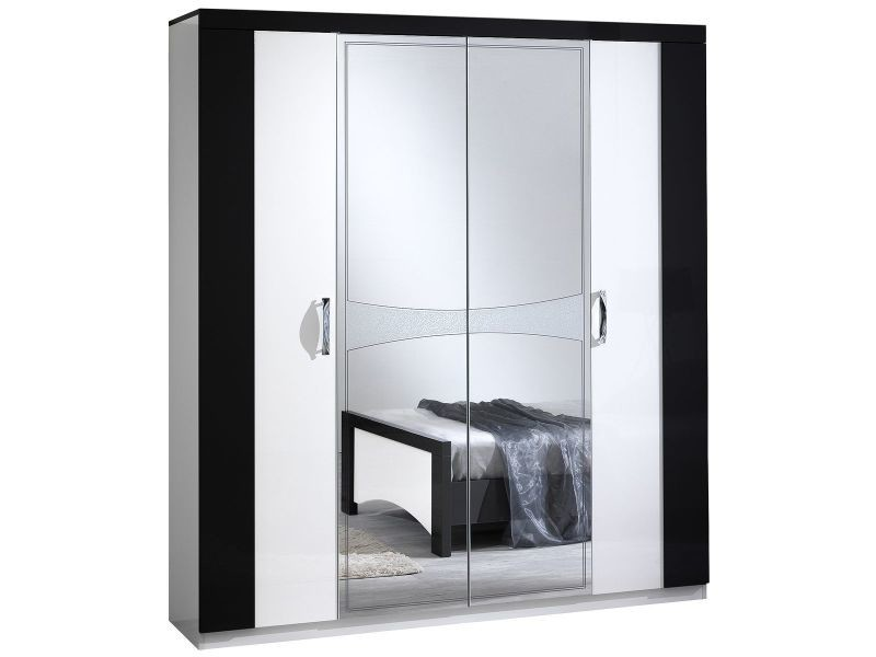 judith noir armoire 4 portes vente de altobuy conforama. Black Bedroom Furniture Sets. Home Design Ideas