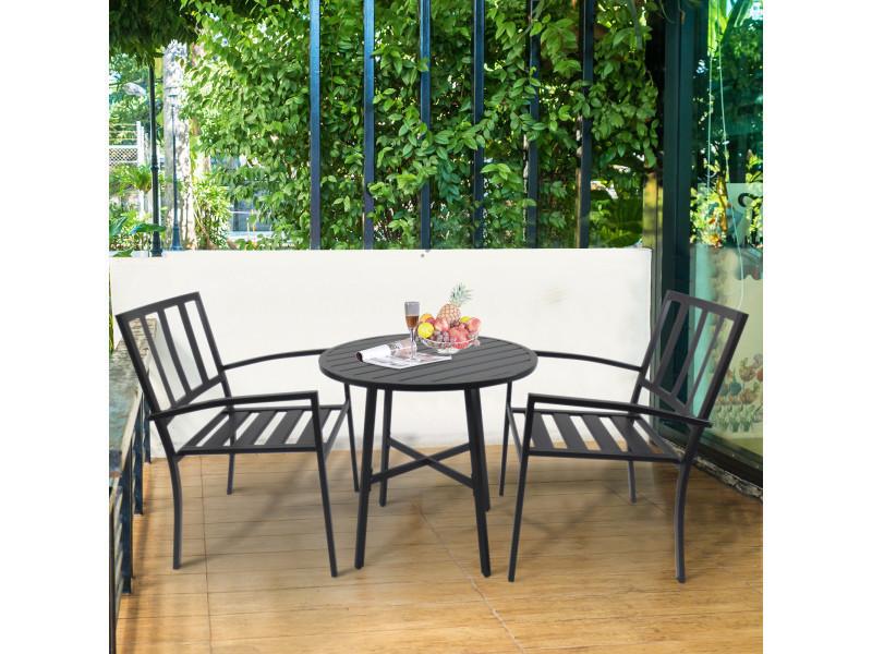 Salon de jardin 2 pers. 3 pièces ensemble bistrot style ...