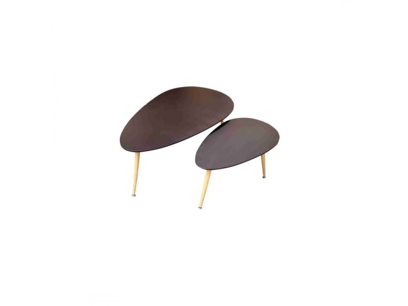 Fly Lot De 2 Tables Basses Gigogne Noir Au Style Scandinave
