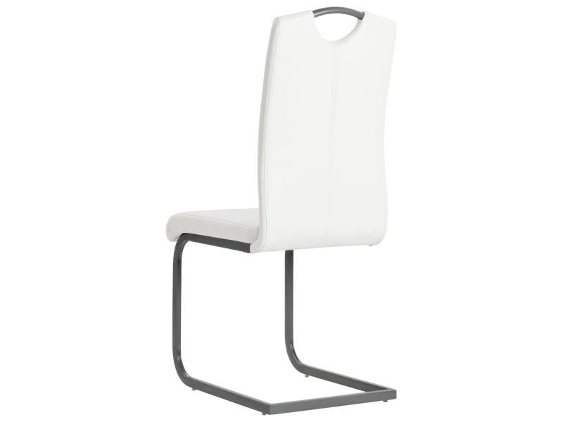 Vidaxl de cuir à salle 2pcs manger artificiel chaise ON8mnwPyv0