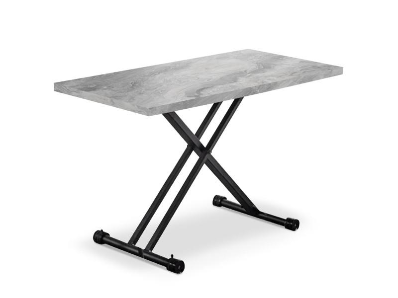 Table Basse Relevable Duke Effet Marbre Gris Vente De