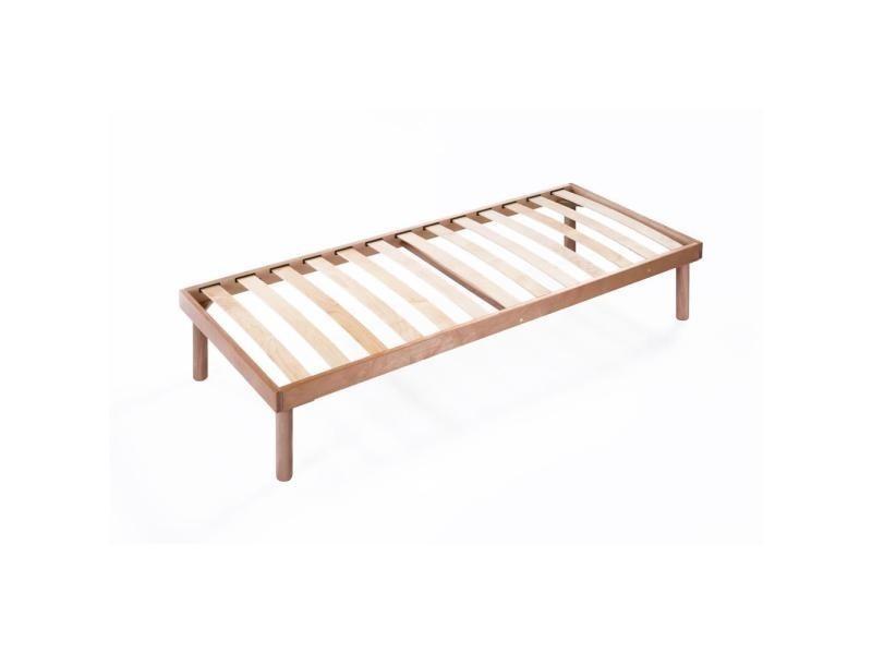 Mobilifiver Sommier /à Lattes de Bois Simple 190 x 80 x 26 cm Made in Italy Multiplis de h/être
