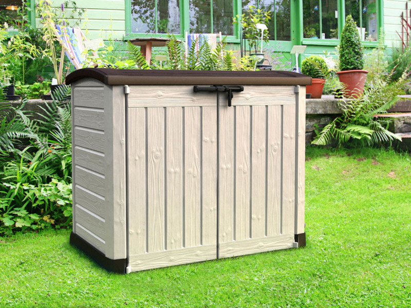 Coffre de jardin en résine multifonctions 1200 l COM_922631 - Vente ...