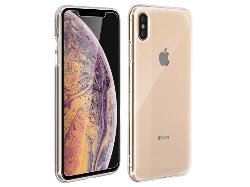 coque iphone xs avec verre trempe