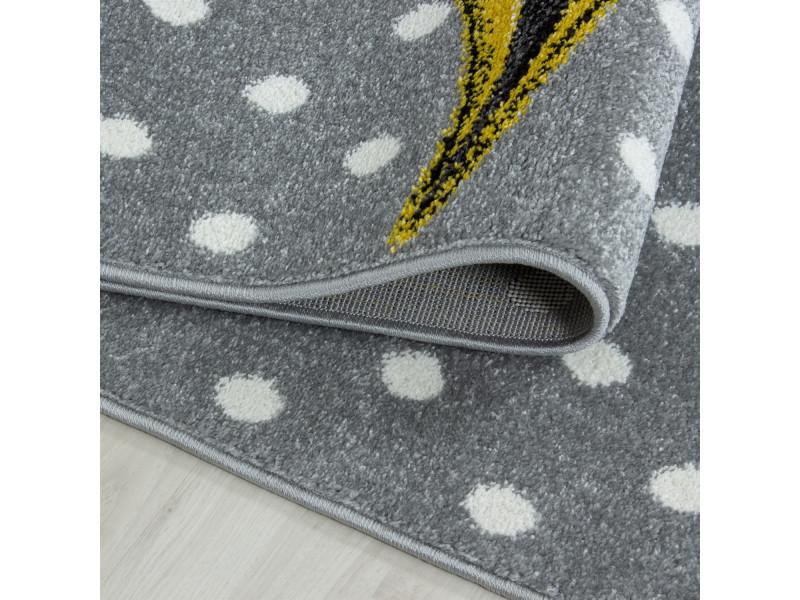Tapis rectangle pour chambre de bébé licorne willis jaune ...