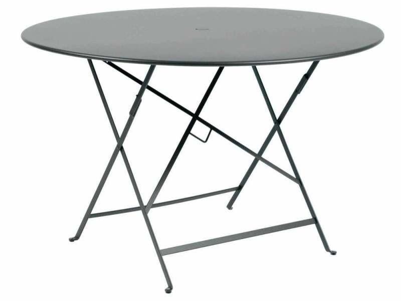 Table de jardin ronde pliante acier laqué bistro - Vente de ...
