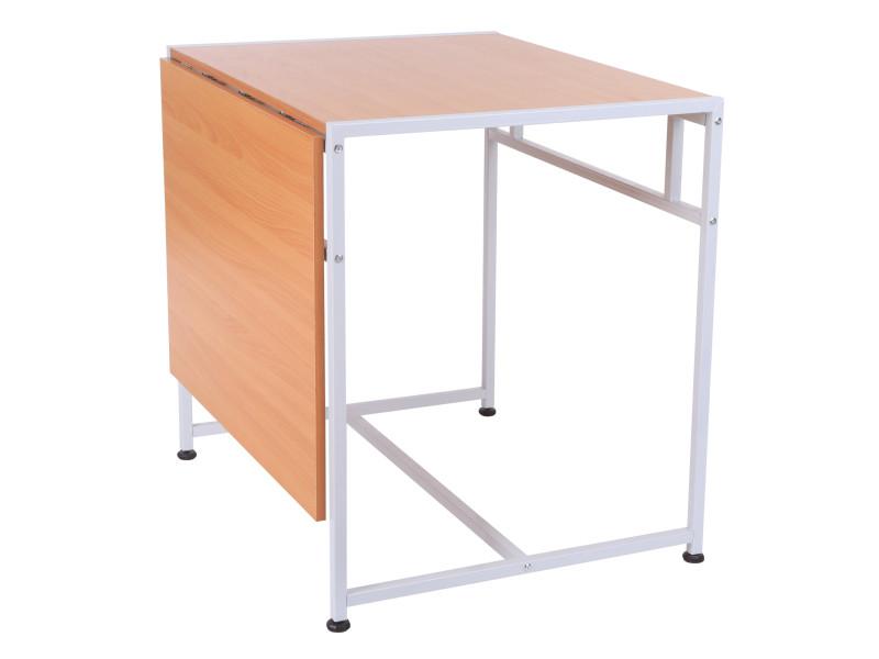 Bureau table informatique pliable 120l x 80lx 75h cm 2 plateaux