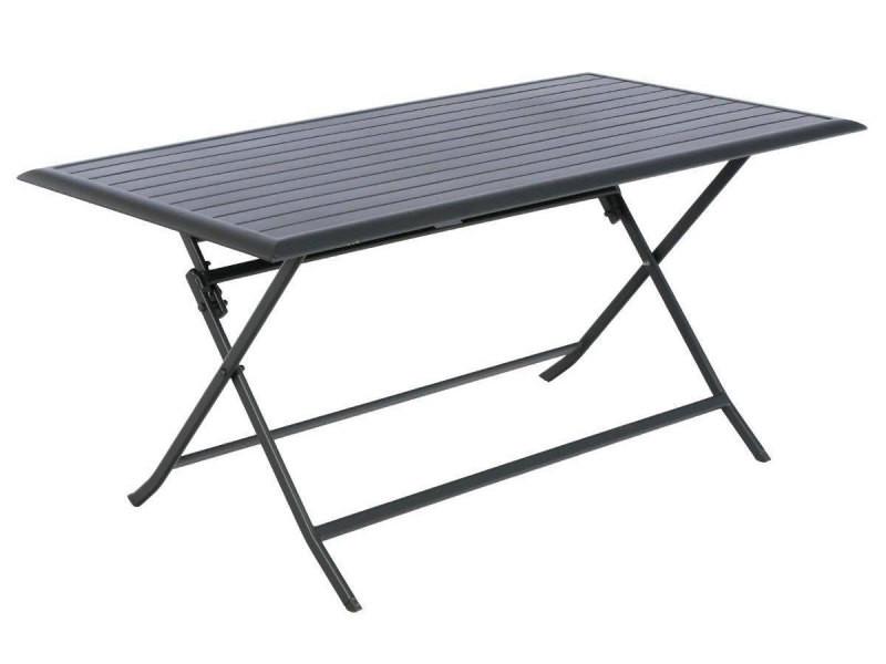 Table de jardin rectangulaire azua 6 places graphite - Vente ...