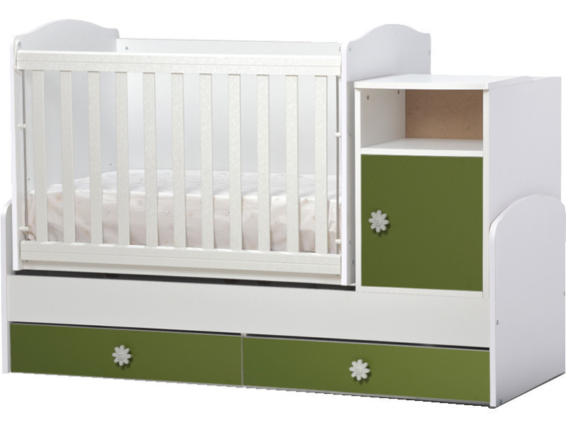 Lit bébé évolutif, combiné 3 en 1 maggy vert Maggy_vert - Vente de ...