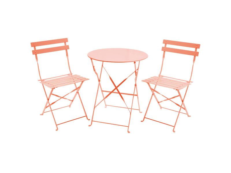 Charles bentley - salon de jardin pliable 3 pièces - table ...