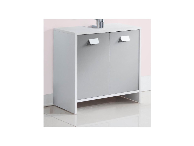 vasque et sous vasque Top meuble sous-vasque l 60 cm - blanc et gris mat