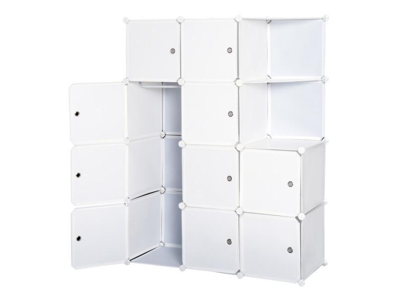 Armoire Penderie Cube Multi Rangements 10 Cubes 2 Etageres