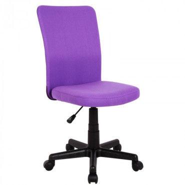 chaise de bureau fille mauve