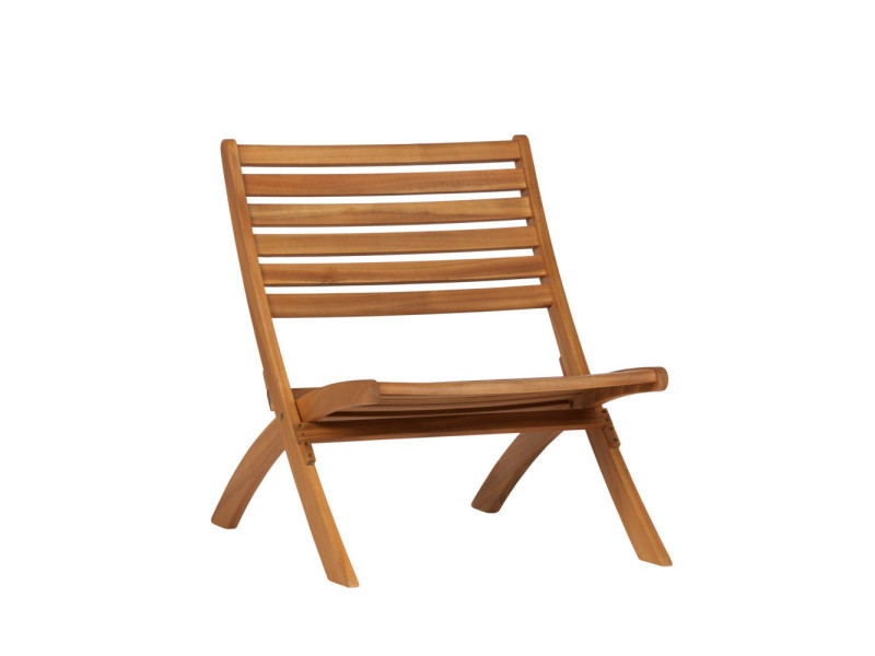 Lois - fauteuil de jardin en bois - couleur - naturel 373610 ...