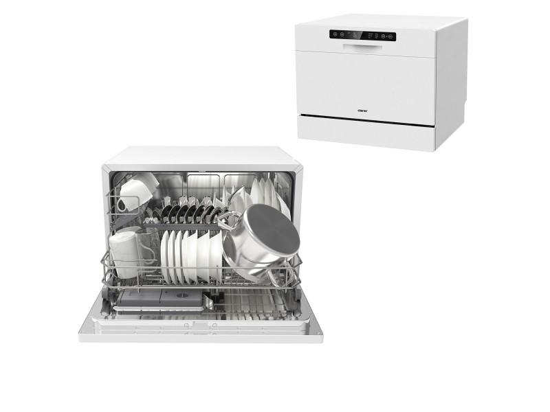 Mini Lave-vaisselle pose libre 55 cm 6 couverts 6 programmes, départ différé, écran led