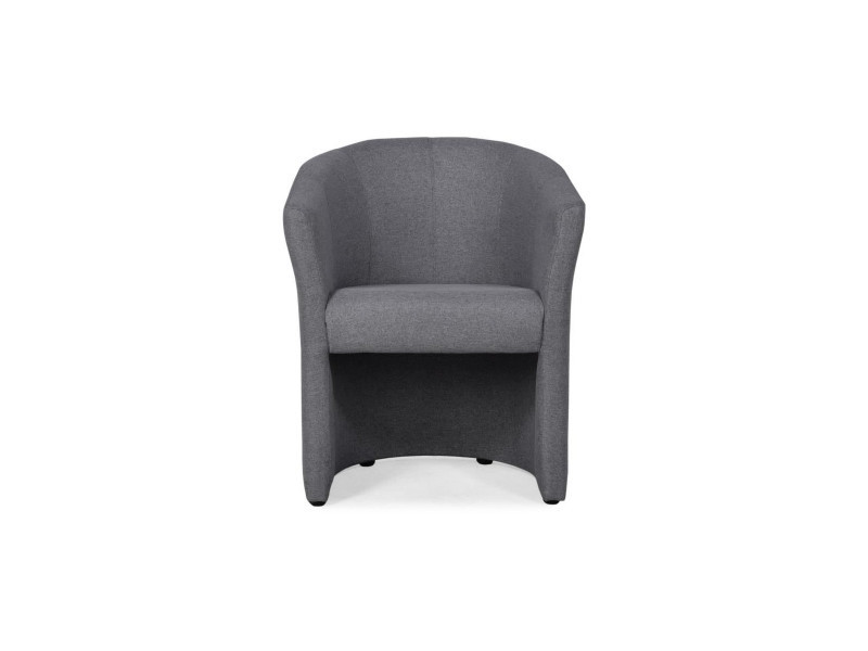 Nino fauteuil cabriolet en tissu anthracite - l 65 x p 59 x h 75 cm