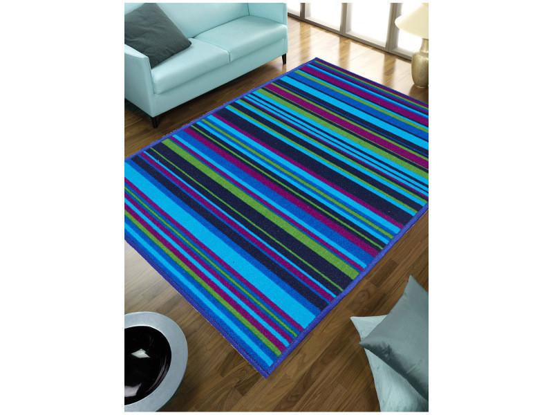 Tapis chambre lignelle bleu 57 x 110 cm tapis de salon moderne ...