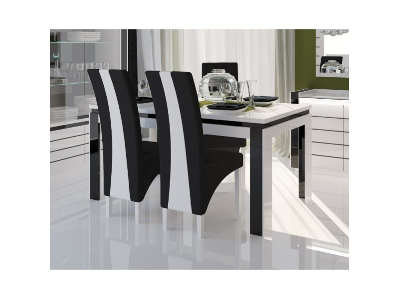 Table 180 cm 4 chaises lina table pour salle manger - Conforama chaises salle a manger ...