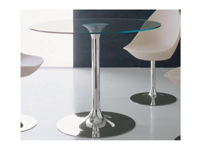 Table repas rond armony en verre 20100836499