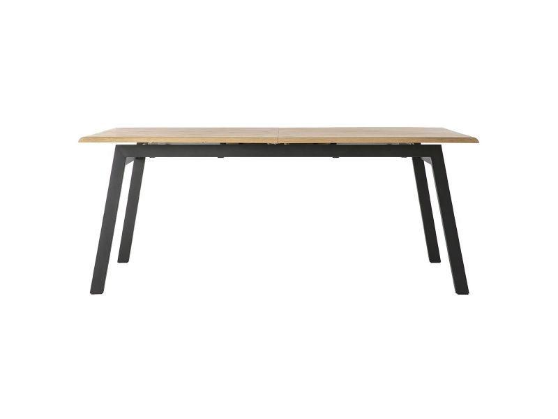 design métal à Table bois chêne et manger l190 extensible hxstBQdorC
