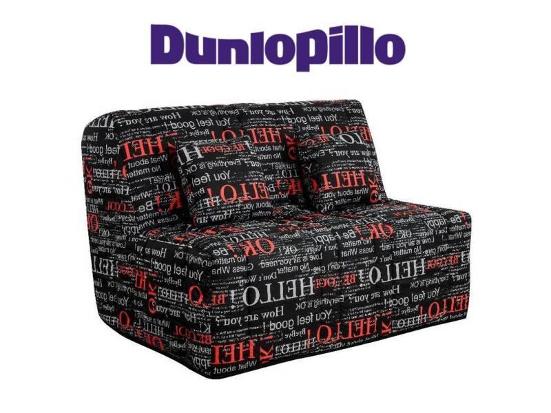 Canapé convertible bz milo imprimé système slyde matelas dunlopillo 13cm 20100875414