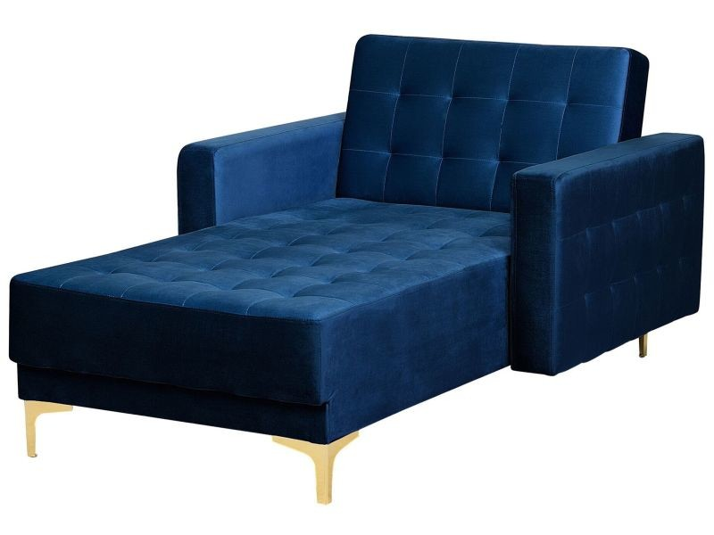 Bleu Vente De Chaise En Velours Marine 146220 Longue Aberdeen OPuwXTlkZi