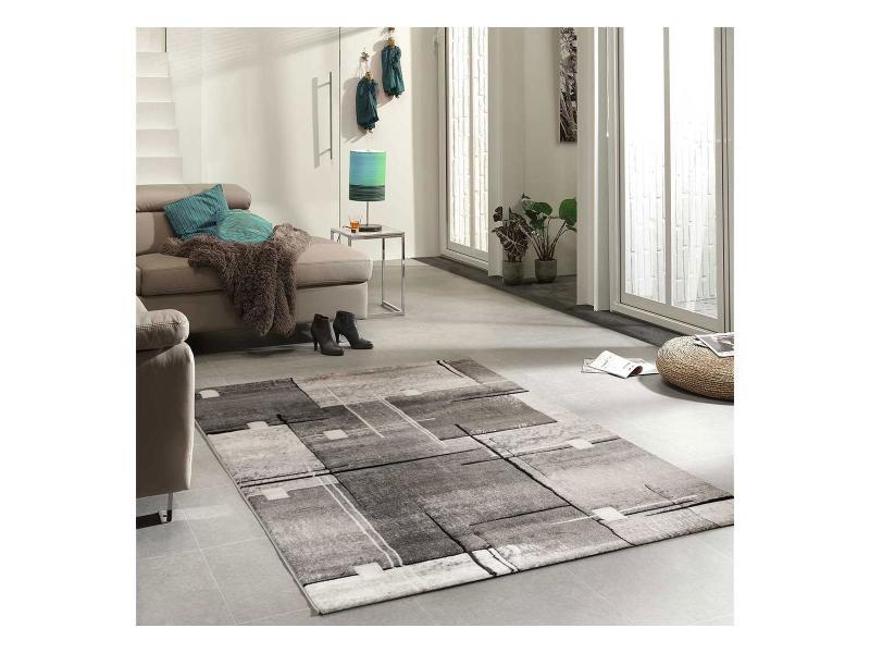 Tapis grand dimensions nova gris 80 x 150 cm tapis de salon moderne design par unamourdetapis - Grand salon moderne ...