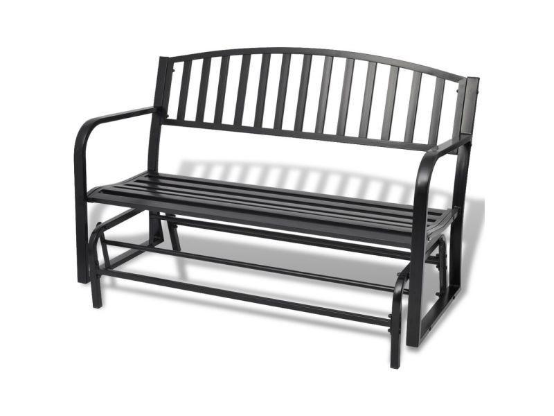 Vidaxl banc balancelle de jardin en acier noir 42170 - Vente de ...