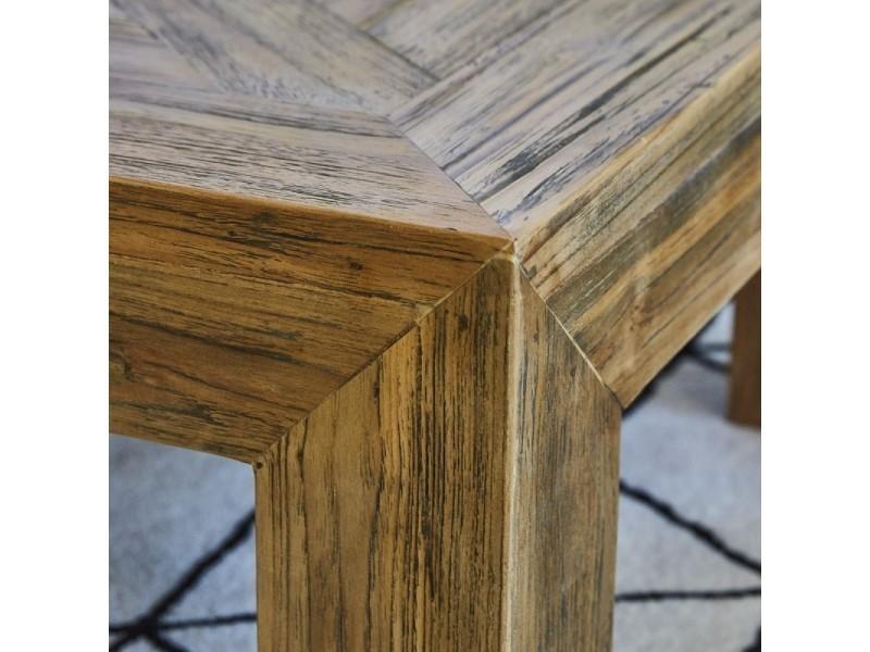 Table de basse Table de Vente en teck 120 bois recyclé jcq5A34RL
