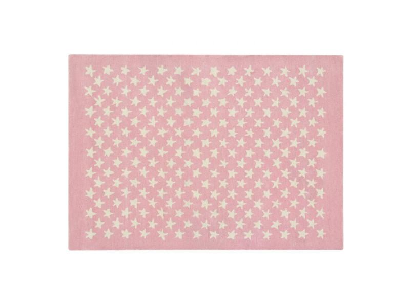 Tapis chambre enfant laine et coton little star lorena canals rose pastel  ...