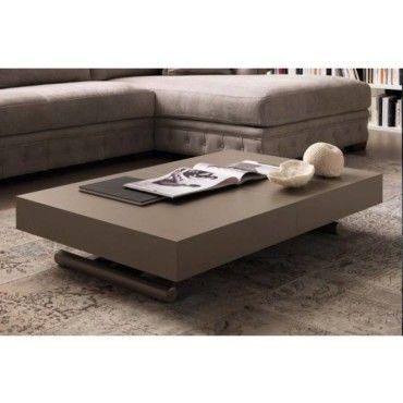 Table basse relevable extensible block design taupe - Table basse relevable extensible conforama ...
