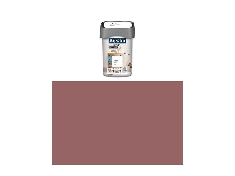 Ripolin   Peinture Esprit Récup Pièce à Vivre Satin (objets En Bois,  Mélaminé, Stratifié) 0.75 Litre Prune