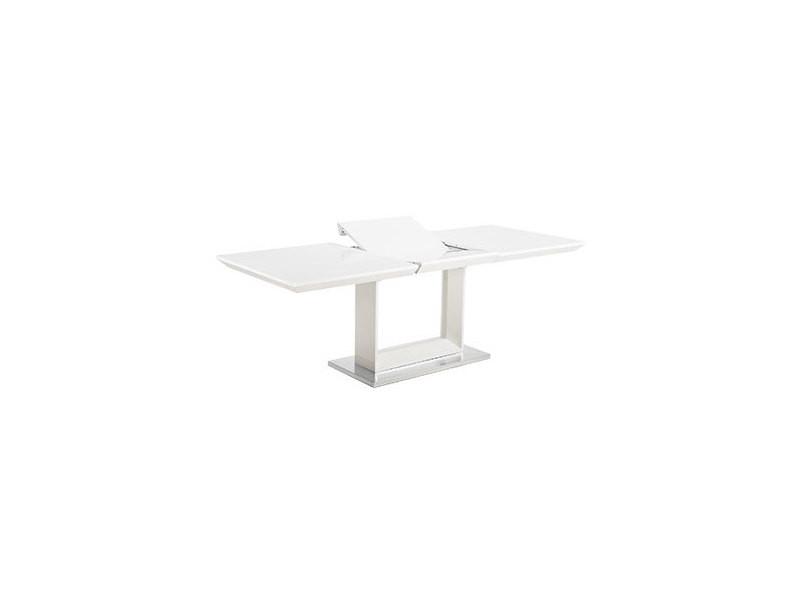 Table Salle à Manger Extensible Design Boismétal Rectangulaire