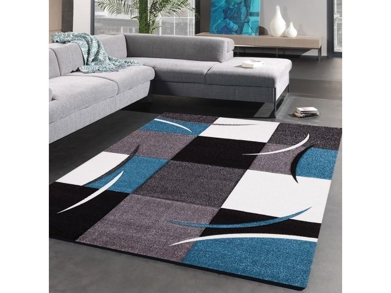 Tapis Moderne Solide Et Confortable Abstrata Blanc Gris Noir 60 X