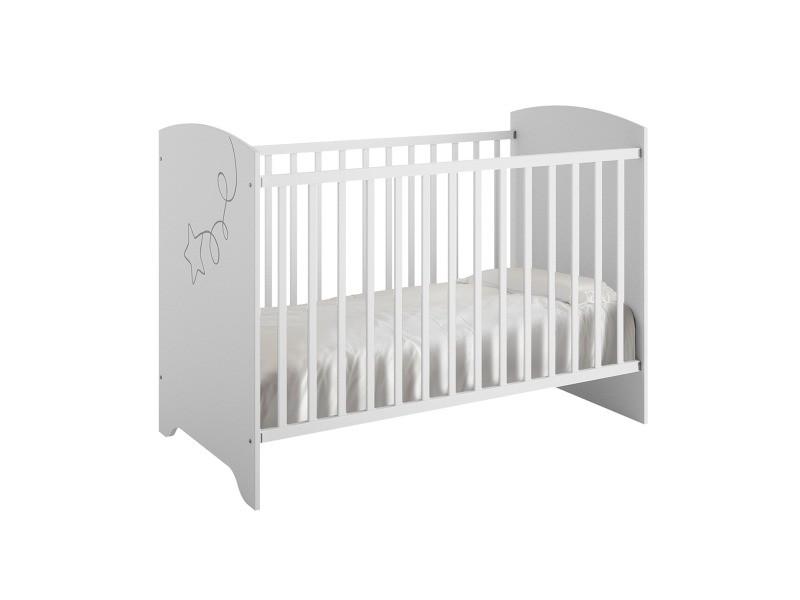 Lit bébé 60x120 adèle - blanc - Vente de GALIPETTE - Conforama