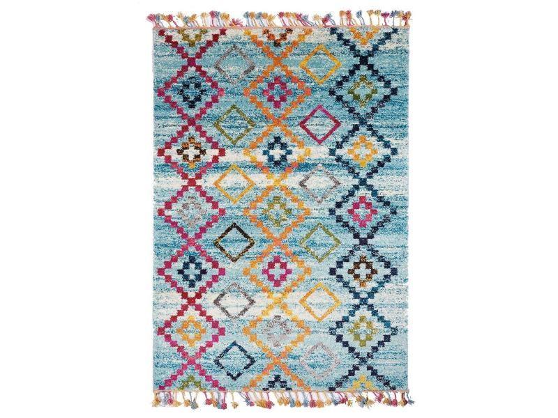 Jadorel 160 x 230 cm jadorel - tapis salon ourika mk 05 bleu ...